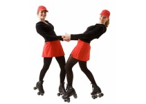 Ladies on Rollerskates, meisjes op rolschaatsen